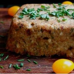 Tofu Loaf with Wild Mushroom Gravy