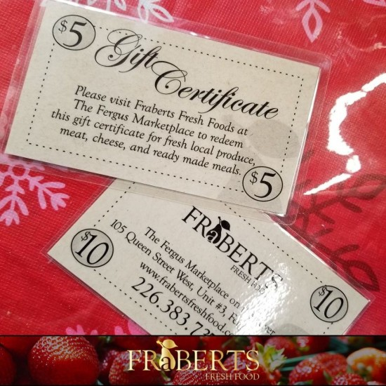 Fraberts Gift Card