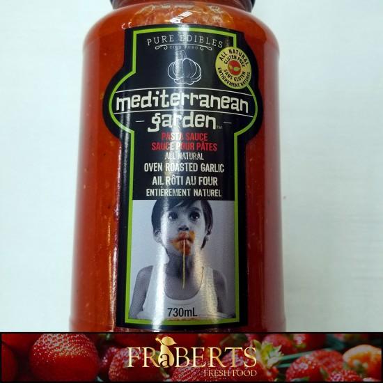 Mediterranean Garden Pasta Sauce - Oven Roasted Garlic